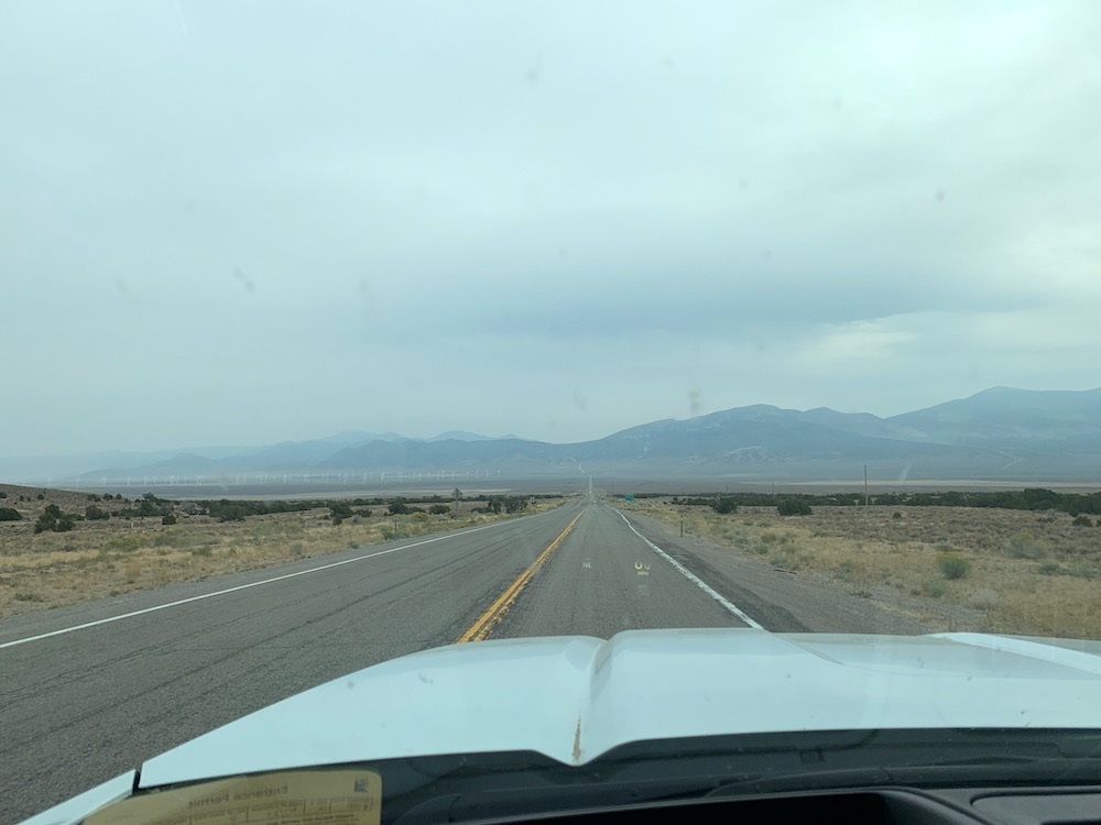 driving through nevada